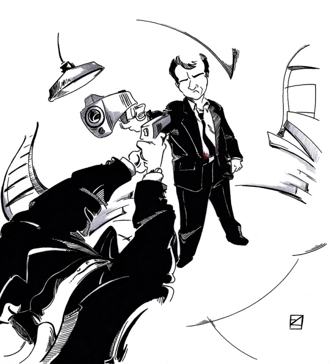 Ilustración Cine Reservoir Dogs