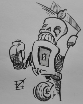 7. Exhausted - Inktober 2018